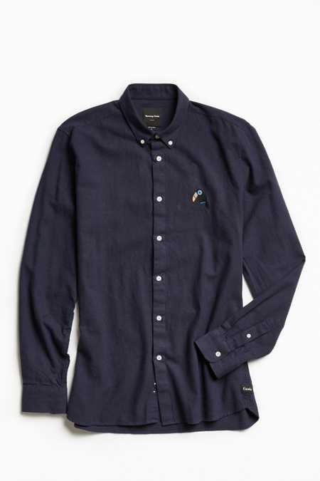 Barney Cools Toucan Embroidered Button-Down Shirt