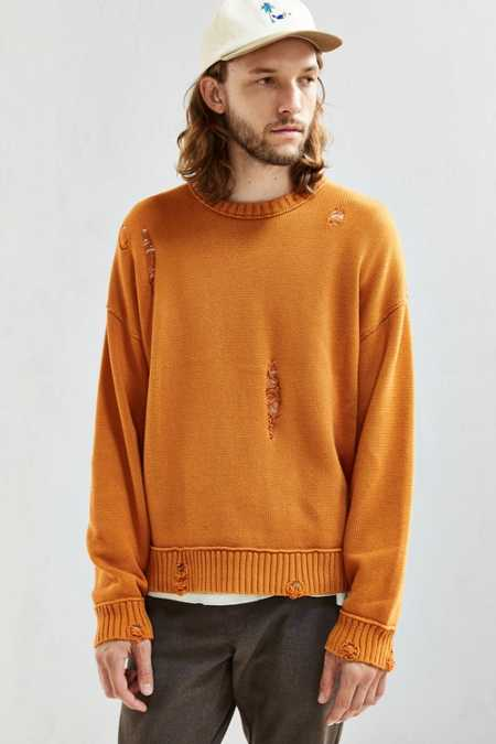 UO Distressed Modern Crew Neck Sweater
