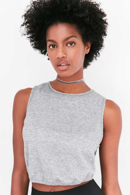 Silence + Noise Hadley Banded Cropped Top