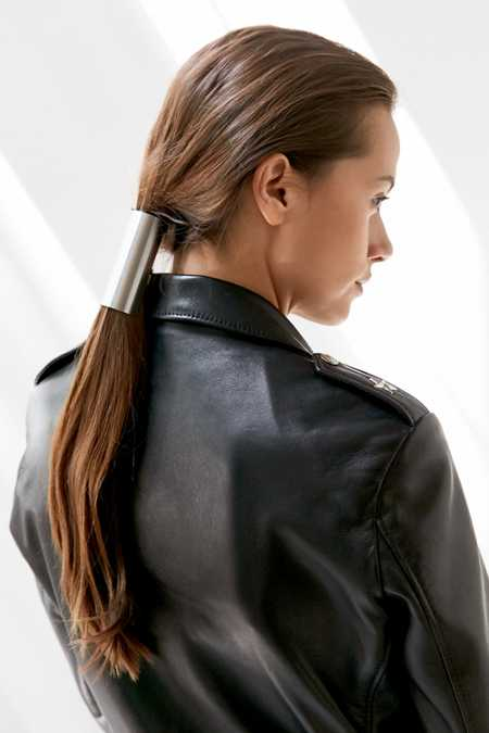 Sleek Metal Ponytail Holder