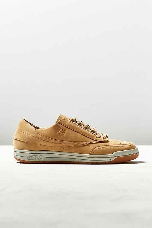 FILA Original Tennis Premium Sneaker,TAN,10.5
