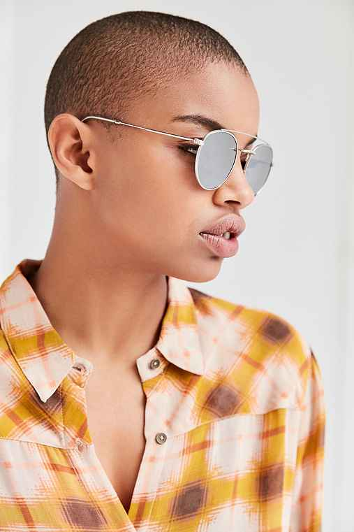 Lookout Brow Bar Sunglasses,SILVER,ONE SIZE