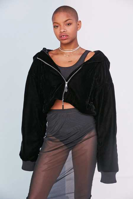 Puma Fenty By Rihanna Cropped Bomber Jacket