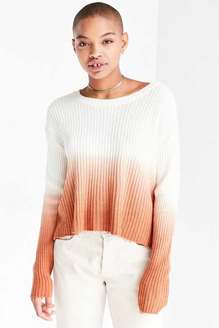 Silence + Noise Dip-Dye Rib Pullover Sweater