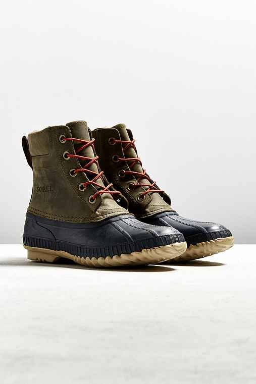 Sorel Cheyanne Duck Boot,OLIVE,10.5