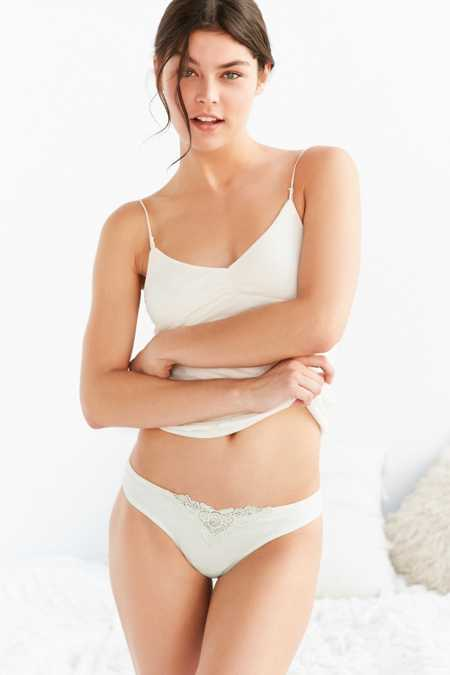 Out From Under Juliet Applique Thong