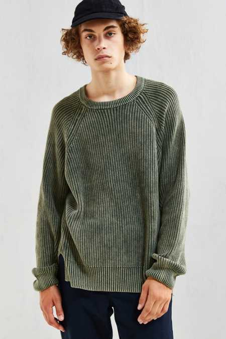 UO Modern Washed Crew Neck Sweater