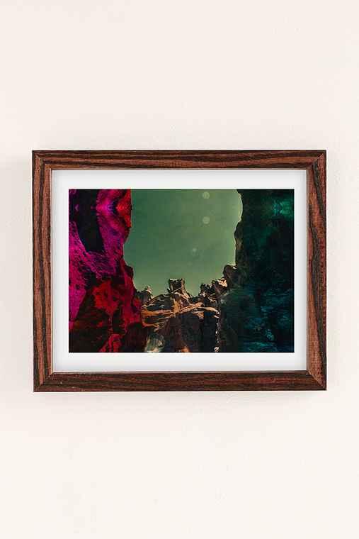Alexandra Valenti Fossil Falls Art Print,WALNUT WOOD FRAME,8X10