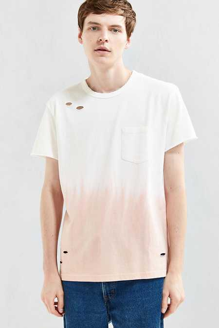 Feathers Dip-Dye Destroyed Tee