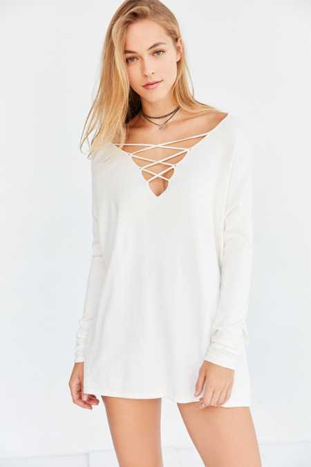 Silence + Noise Kendall Crisscross Pullover Sweater