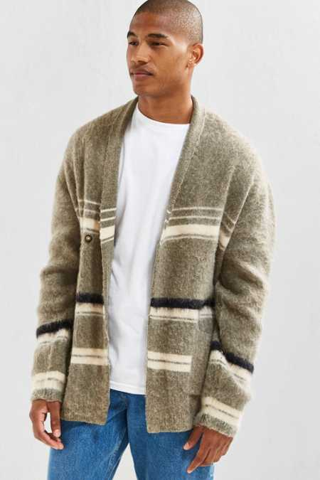 UO Wrap Shawl Brushed Pattern Cardigan
