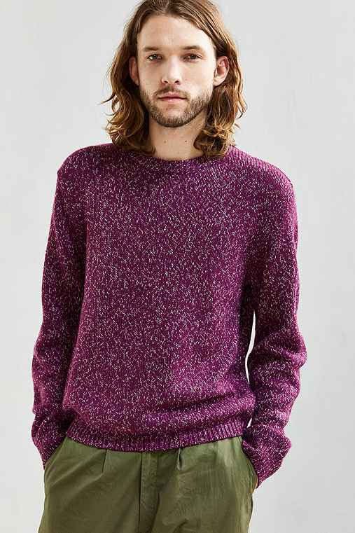 UO Classic Twist Crew Neck Sweater,PURPLE,M