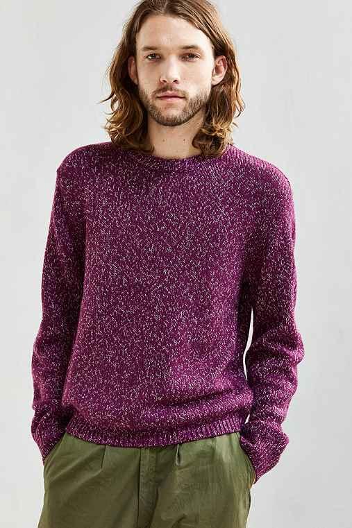 UO Classic Twist Crew Neck Sweater,PURPLE,M