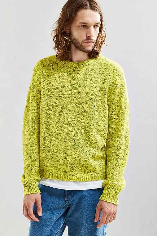 UO Classic Twist Crew Neck Sweater,YELLOW,S