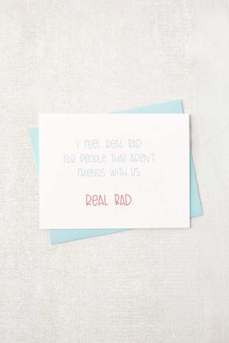 Colette Paperie Real Bad Friendship Card