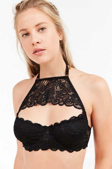 Out From Under Annie Cutout Lace High Neck Bra