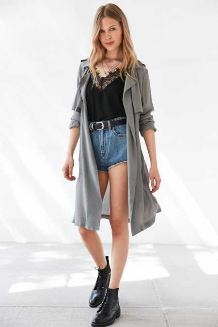 Moon River Woven Trench Coat
