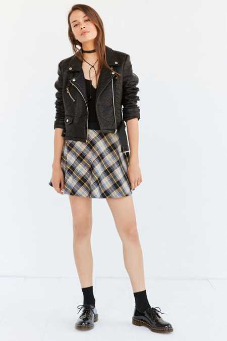 BDG Tai Plaid Circle Skirt