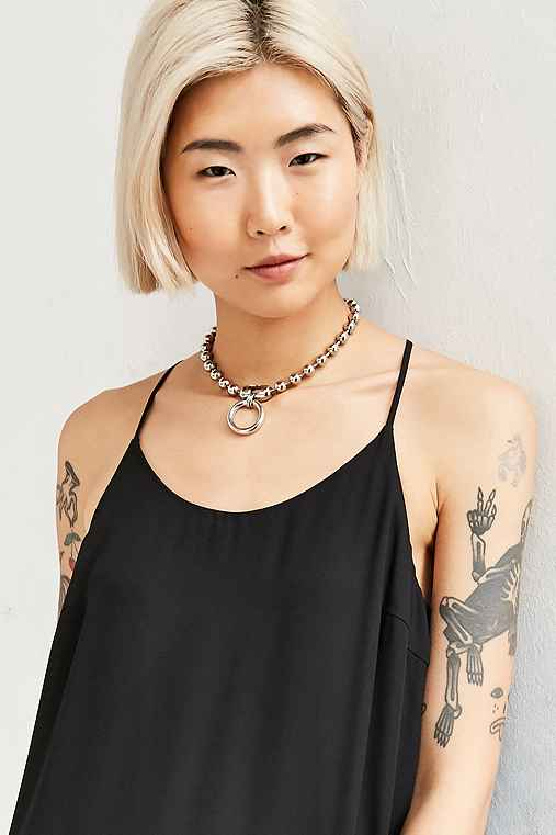 We Who Prey Medium Meridian Choker Necklace,SILVER,ONE SIZE