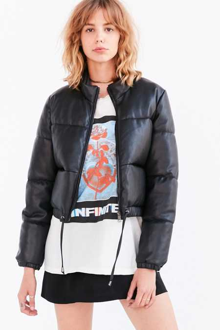 Silence + Noise Ezra Alt Vegan Leather Puffer Jacket
