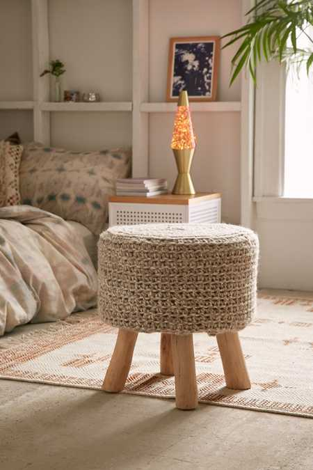 Cable Knit Stool