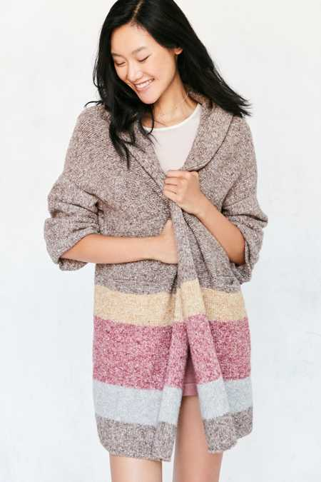 Silence + Noise Hooded Open Cardigan