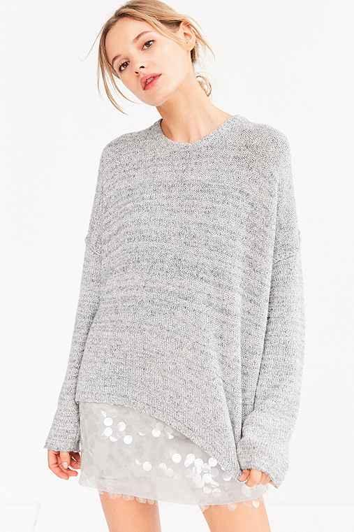 BDG Drop-Shoulder Pullover Sweater,GREY,S