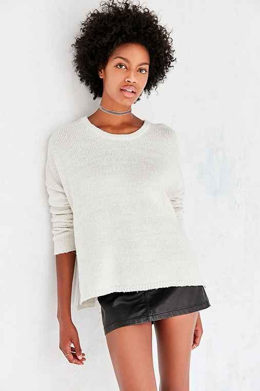 BDG Drop-Shoulder Pullover Sweater,IVORY,S