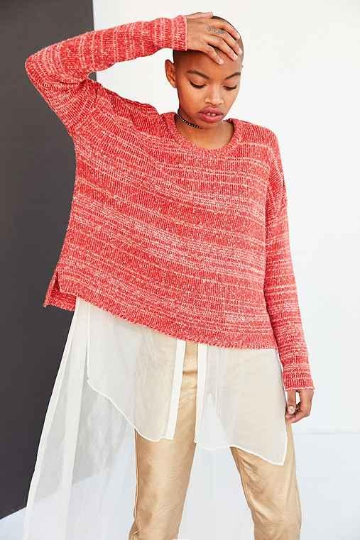 BDG Drop-Shoulder Pullover Sweater,RED,M