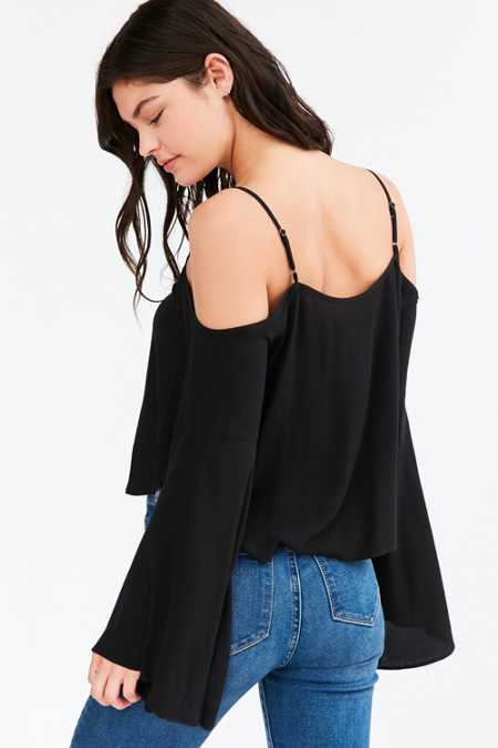 Silence + Noise Landon Cold-Shoulder Blouse