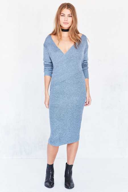 C/meo Collective Make A Move Ribbed Knit Midi Dress