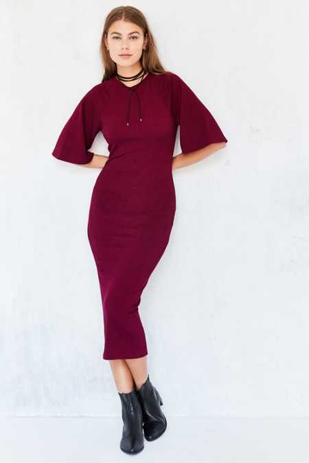 The Fifth Label Repetition Sweater-Knit Bodycon Midi Dress