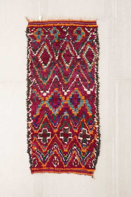 One-Of-A-Kind 3x6 Moroccan Tufted Boucherouite Shag Rug
