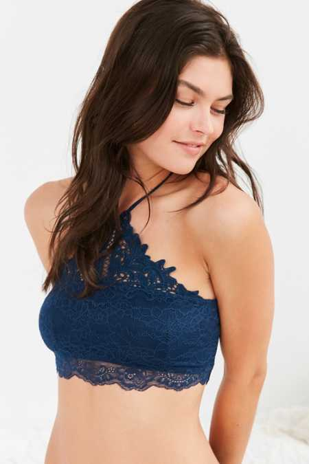 Madalynne For Out From Under Eileen Lace High Neck Bra