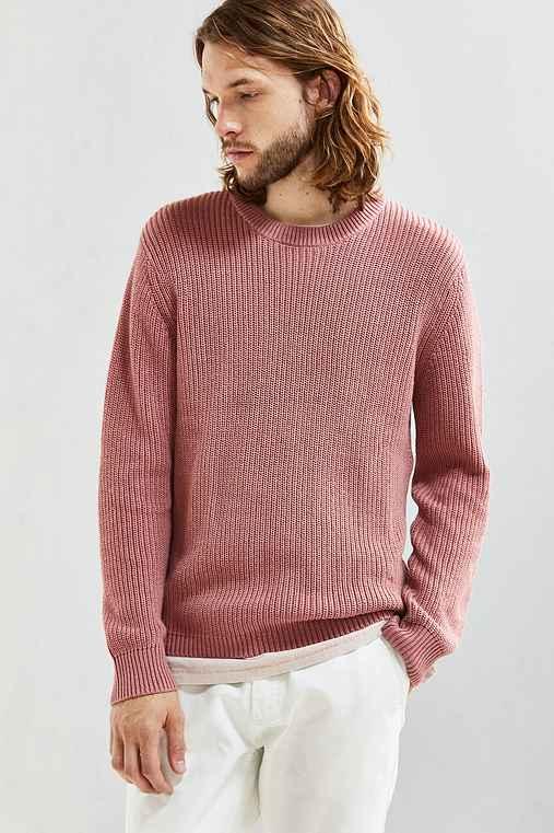 UO Classic Crew Neck Sweater,PINK,M