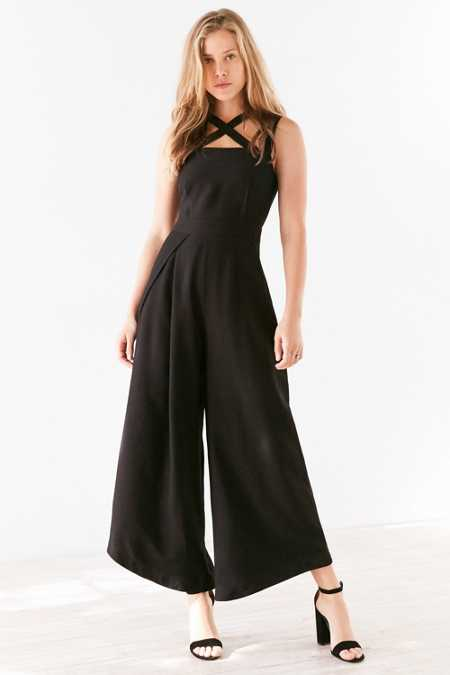 Finders Keepers Mies Cross-Front Culotte Jumpsuit