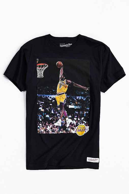 Mitchell & Ness Kobe Bryant Photo Tee,BLACK,M