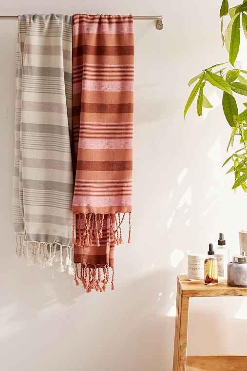 Ari Striped Bath Towel,CREAM,ONE SIZE
