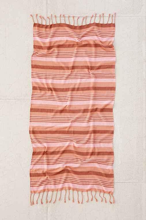 Ari Striped Bath Towel,PINK,ONE SIZE