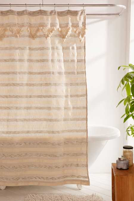 Offera Woven Shower Curtain