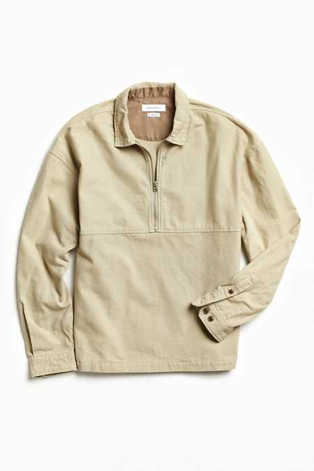 UO 1/4-Zip Flannel Over Shirt