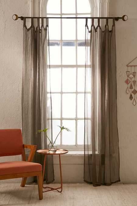 Metallic Thread Sheer Curtain