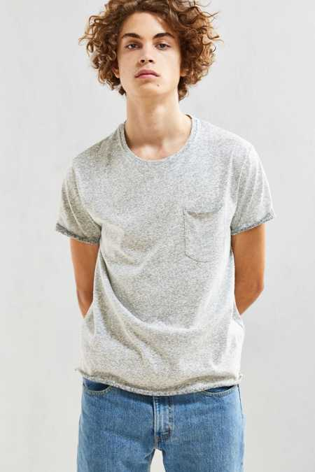 UO Plaited Nubby Roll Sleeve Tee