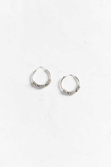 Sterling Silver Mini Hoop Earring