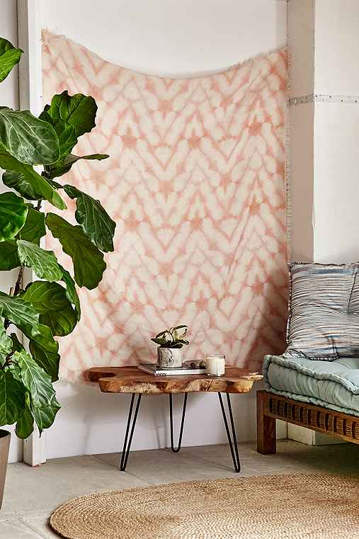Graham Keegan Blush Shibori Tapestry,BLUSH,ONE SIZE
