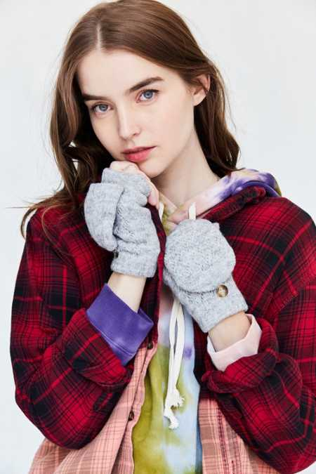 Plush Convertible Fingerless Glove