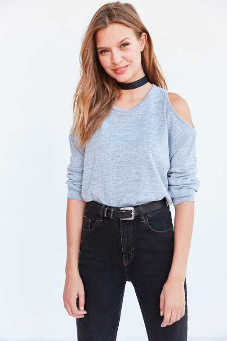Silence + Noise Kaitlyn Cold Shoulder Sweater