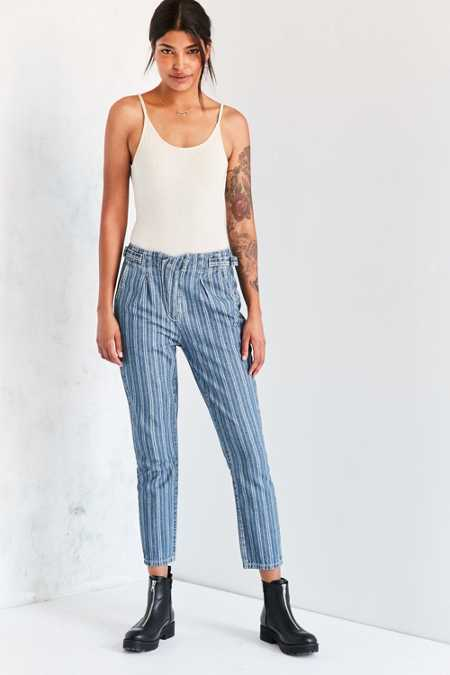 BDG Striped High-Rise Trouser Jean