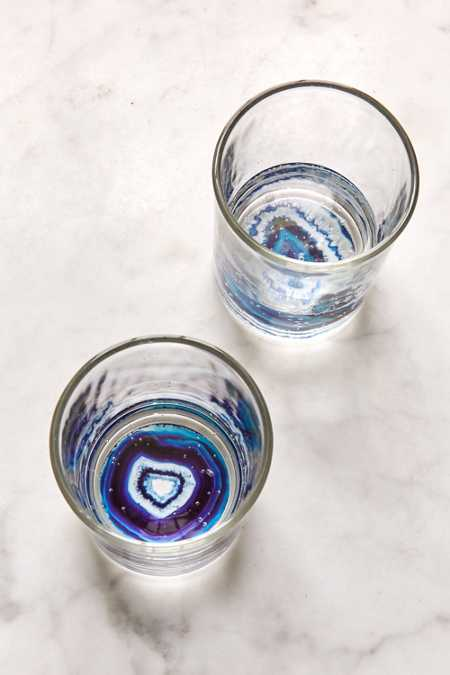 Geode Bottom Glasses Set