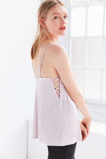 Silence + Noise Catalina Lace-Up Side Cami